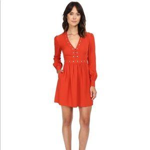 Rachel Zoe Neda Orange Dress